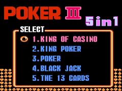 Poker III 5 in 1 (Asia) (Unl)